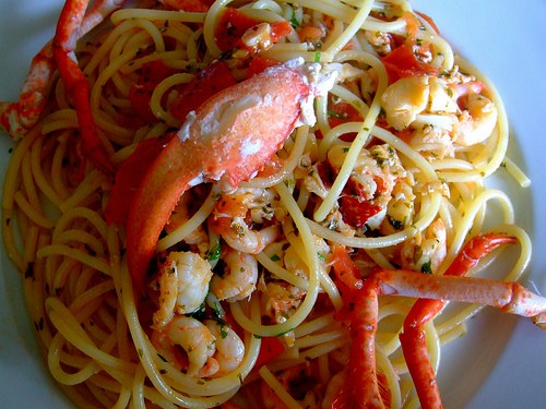 Spaghetti with Lobsters